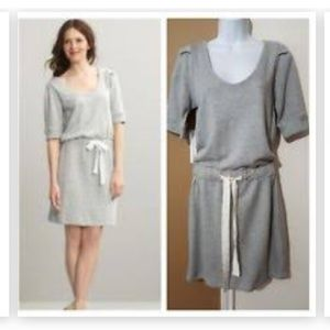 Banana Republic Gray Sweatshirt Drawstring Dress